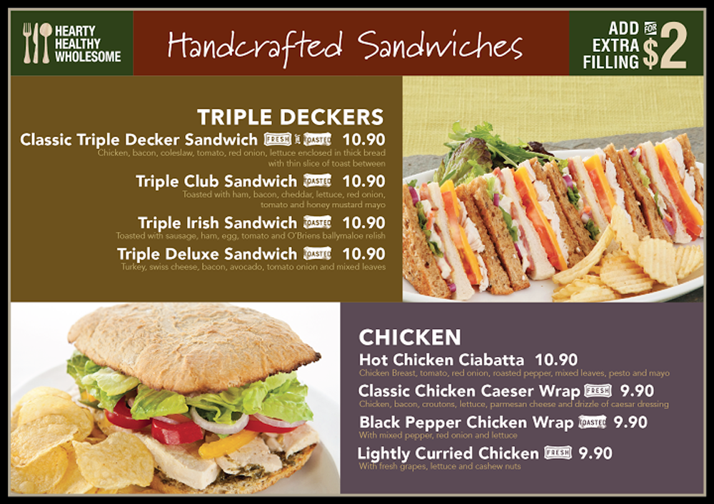 Crisp Sandwich Cafe Menu